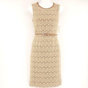 NEW ANNE KLEIN Lace Belted Waist Dress $140 💋